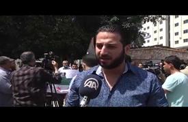 """""""فلسطينيو سوريا"""" ينظّمون وقفة في غزة تنديدا بمجازر حلب"""
